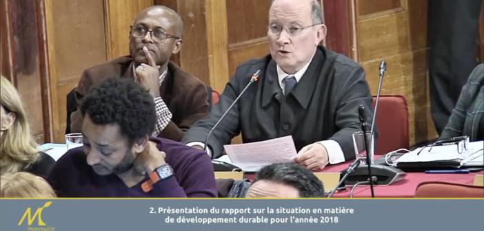 Intervention (CM 6 février 2019) : Bruno Marielle – Rapport Développement Durable 2018